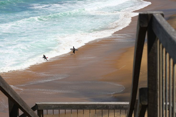 Surfers at Bells Beach, Torquay - Victoria - Australia