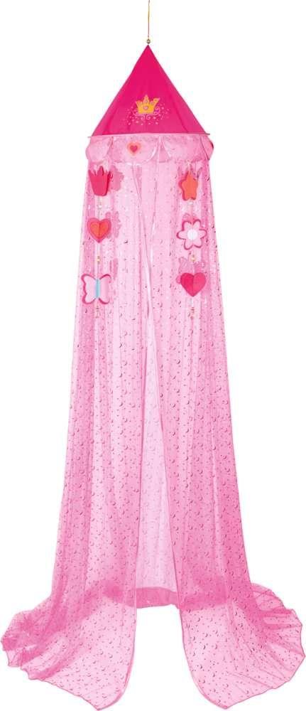 Zauberhafter Prinzessin Lillifee Betthimmel mit Gold- und Glitzersternchendruck und kleinen Perlen aus dem Hause Die SpiegelburgIns Land der Prinzessinnen entführt uns dieser wundervolle Betthimmel. In strahlendem rosa