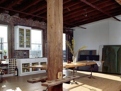 I want a big industrial loft to work, play, and live in.