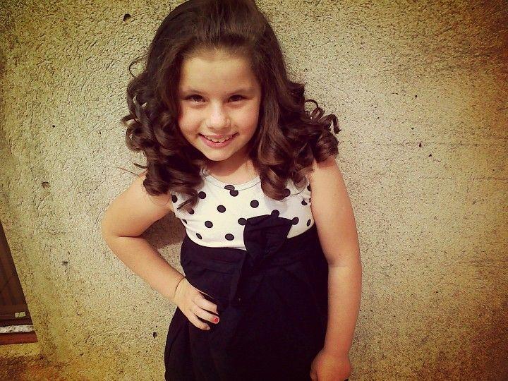 Curly little girl medium hairstyle