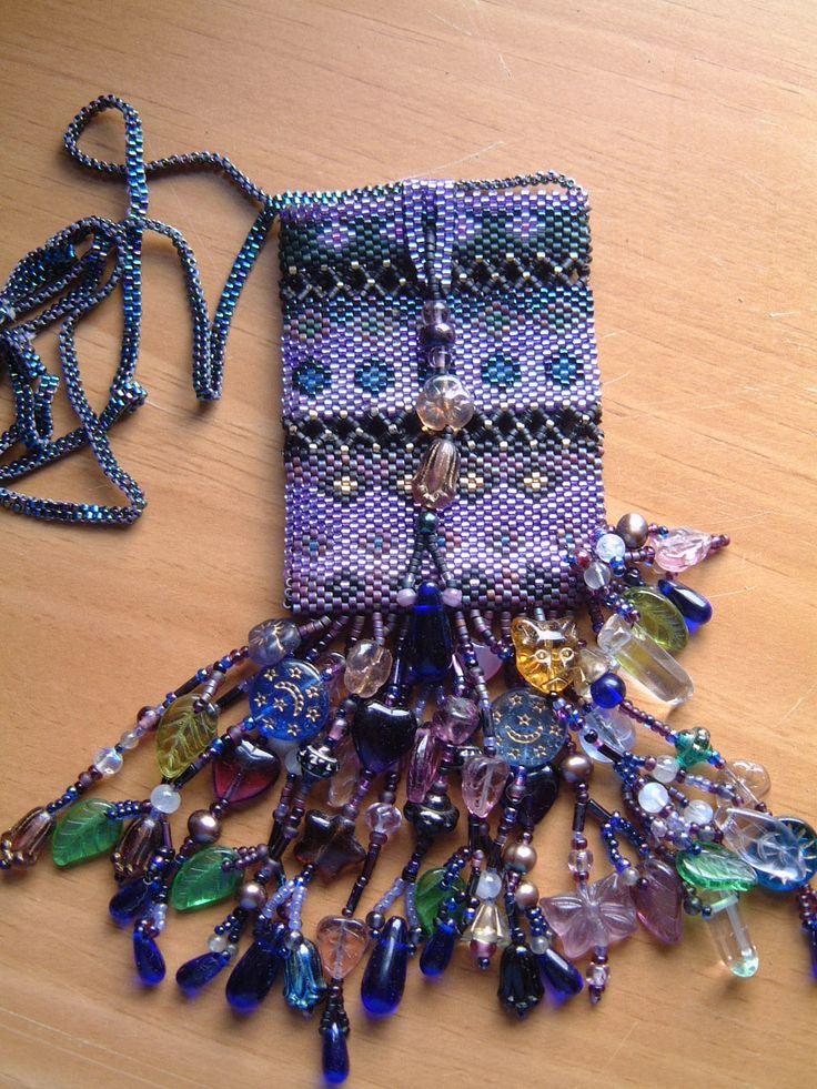 Amulet bag. fringe. on bottom