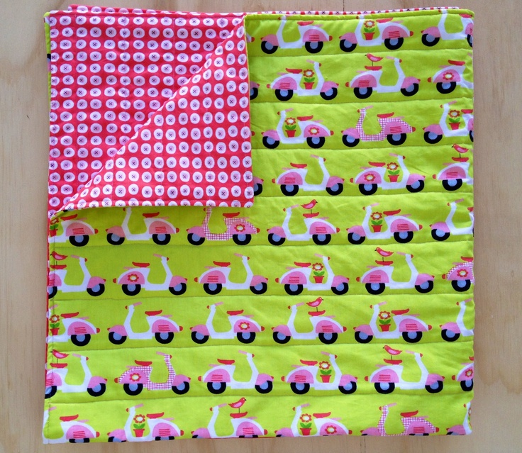 Organic Baby Playmat from JuMi Creations - cute Scooters!