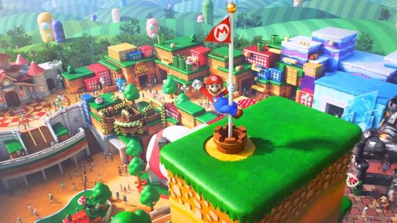 The new trailer for Super Nintendo World's theme park is pure joy