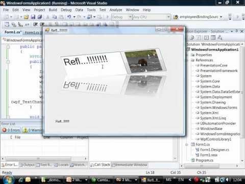 Сравнение WinForms и Windows Presentation Foundation; обзор их принципиальных отличий и идей, заложенных в платформу WPF. Рассмотрение и демонстрация способо...