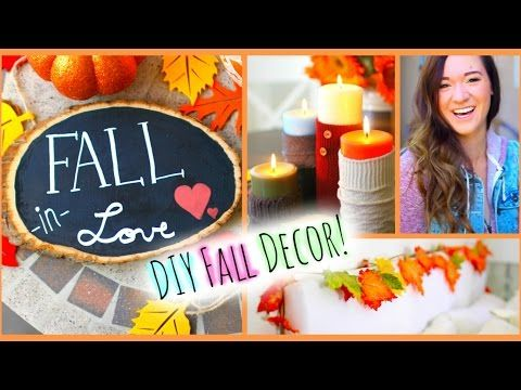 DIY Fall Room Decor ♡ Easy Ways to Decorate Your Room for Cheap! - YouTube