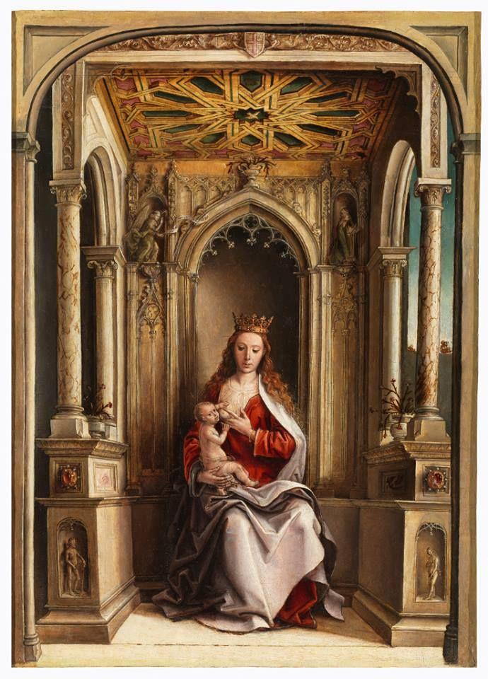 Virgen de la leche, de Pedro Berruguete hacia 1500, Museo del Prado, Madrid