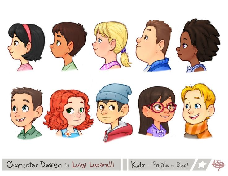 Kids Profile Bust 1 by LuigiL on DeviantArt