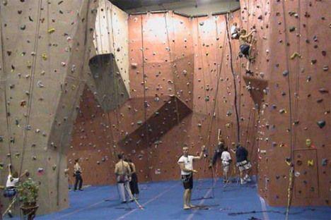 indoor rock climbing -