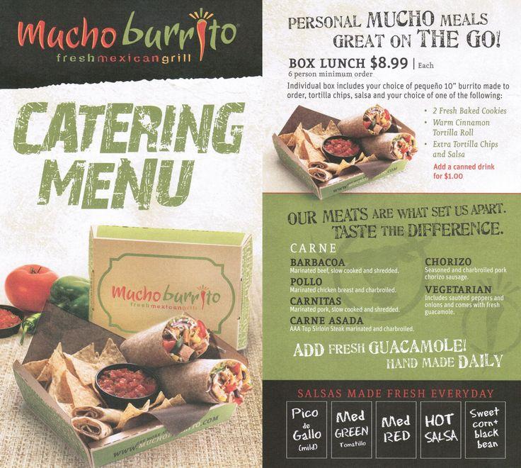 Mucho Burrito Menu #1