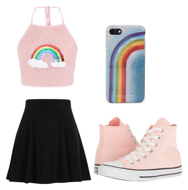 """""""Rainbow"""" by unikitty864 on Polyvore featuring River Island, Converse and Marc Jacobs"""