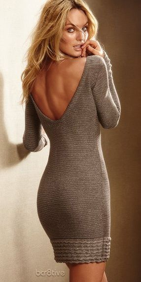 love her hair and make and want this sweater dress :)
