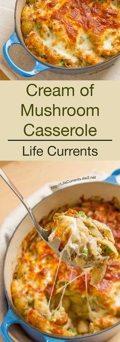 I love a good comfort food dish! Casseroles are definitely in this category for me. This Cream of Mushroom Casserole is filled with simple comfort food ingredients. Your whole family will love it!