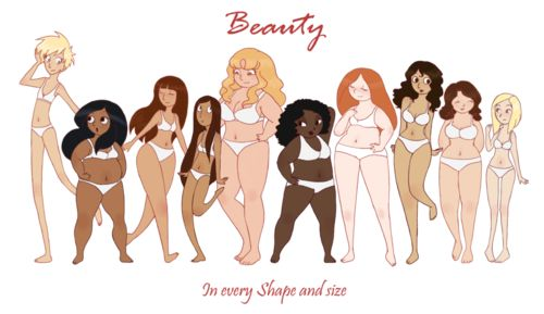 Beauty isn't defined by a shape...-Brooklynn