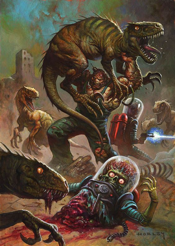 "art for the upcoming ""Mars Attacks: Occupation"" card set from Topps."