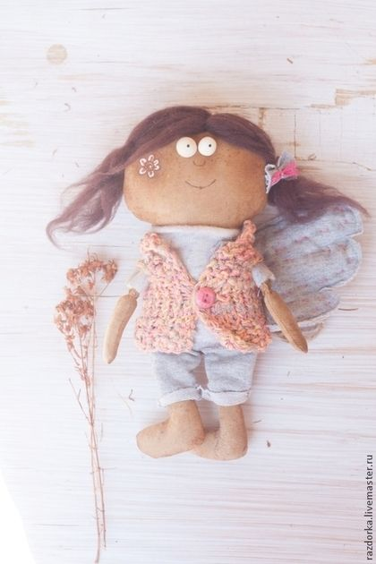 """Ароматизированные куклы ручной работы. Ярмарка Мастеров - ручная работа. Купить """"Цветочная феечка"""" Авторская кукла. Handmade. Бледно-розовый"""
