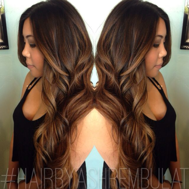 balayage we went from natural black hair to a caramel. Black Bedroom Furniture Sets. Home Design Ideas