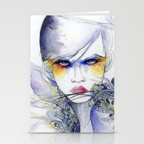 https://society6.com/product/sophisticated-lady-watercolor_cards?curator=bestreeartdesigns.  $12