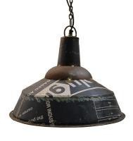 Blå lampa av återvunnen plåt 1559kr