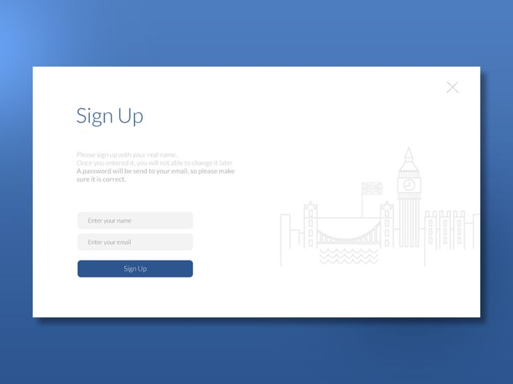 Signup page by Mammad Emin