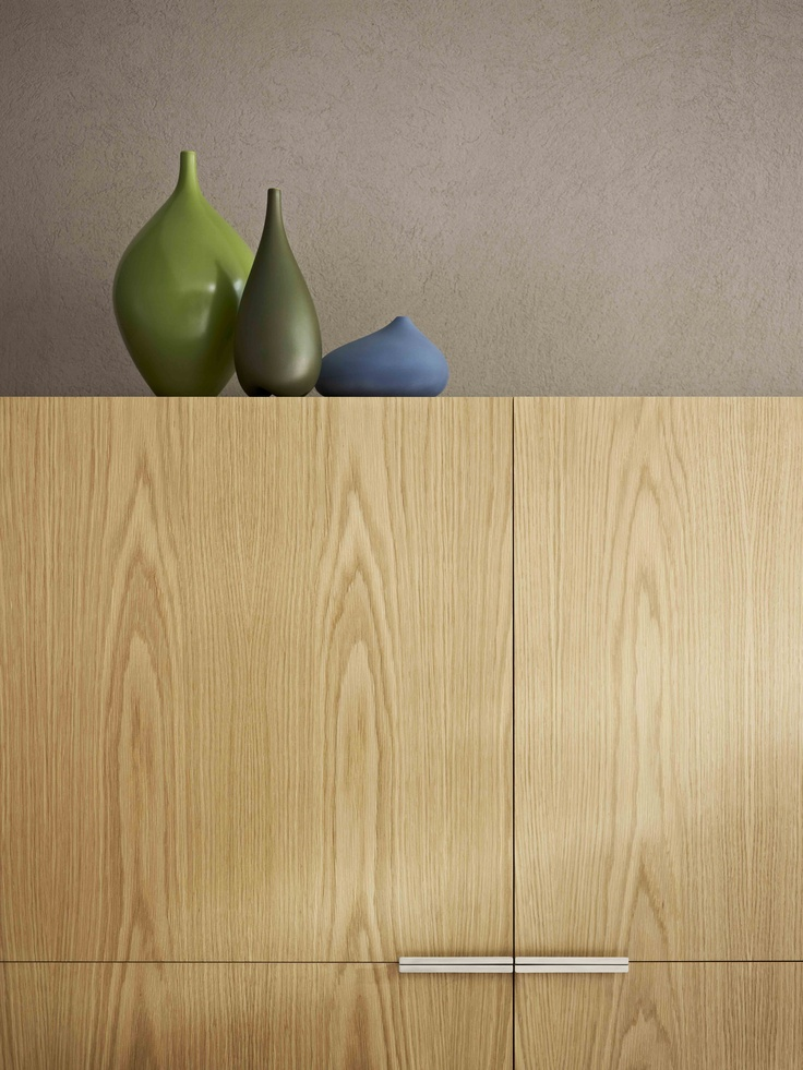 Cabinet Laminex Natural Timber Veneer American White Oak (Crown Cut). Styling Wendy Bannister. Photography Earl Carter.