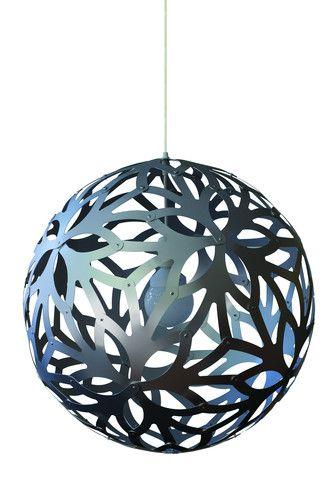 Floral Pendant Lamp Aluminum