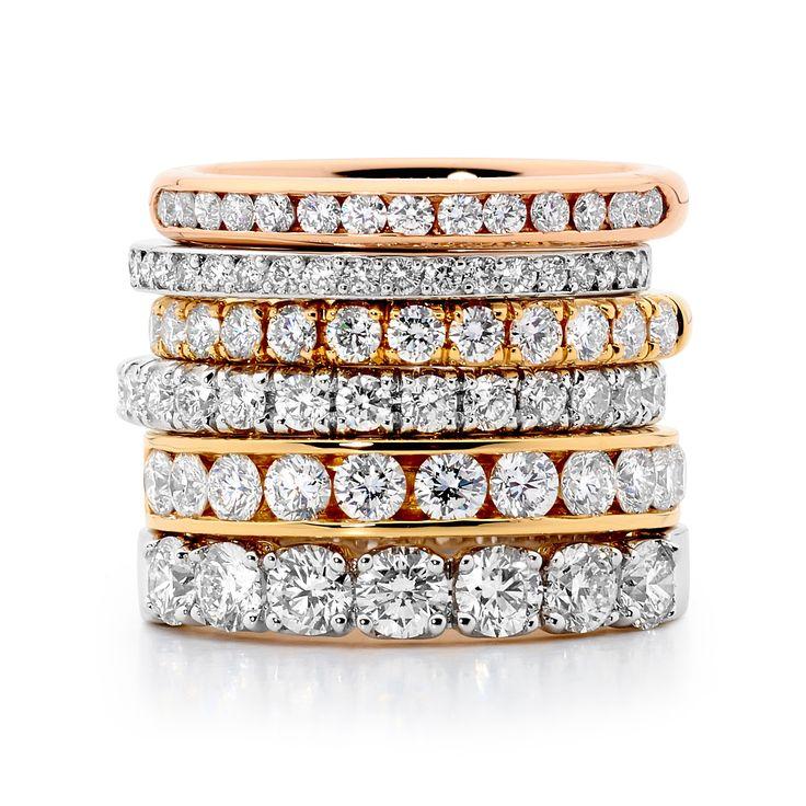 Diamond Dreams! Diamond wedding bands by Diamonds International Brisbane  #diamonds #love #marryme #sparkle #shimmer #diamondsinternational #engagement #ring