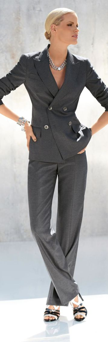 97 best images about Fashion- Women's suits on Pinterest | Skirts ...