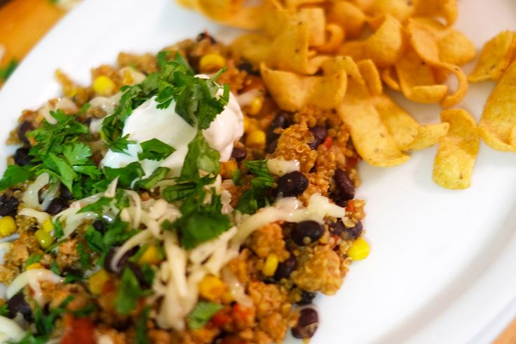 A Mexican Quinoa One-pot meal, Super quick to prepare and zesty, just the thing for a quick weeknight dinner.