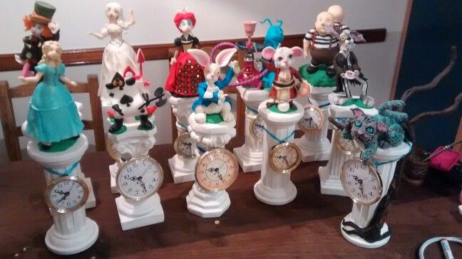 Centros de mesa Alice in wonderland