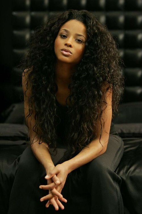 Can't wait until my hair is this long!   -Ciara
