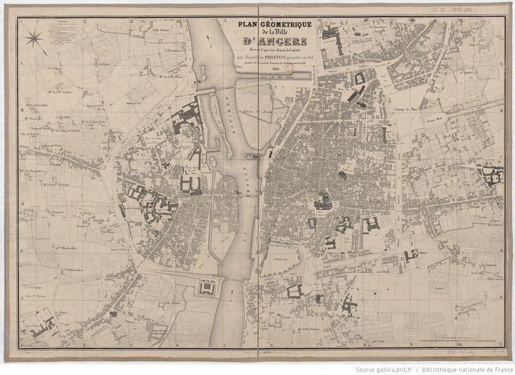 Plan géométrique de la ville d'Angers / dressé d'aprés les élémens [sic] du Cadastre par Hippolyte Priston géomètre en chef, membre de la société…