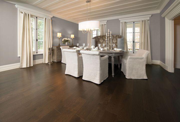 Dark Floor Grounds White Kitchen Classic
