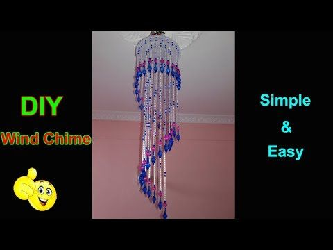 DIY Wind chime | How To Make Jhumar With Straw Pipes | Home Decorating Ideas - YouTube