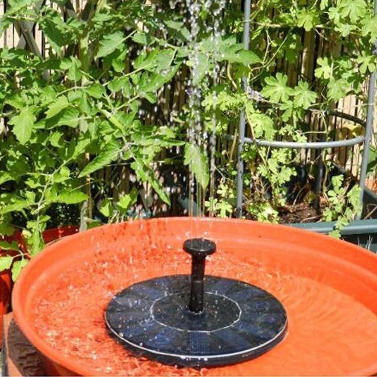 200L / H Floating Solar Power Fountain Panel Kit Garden Water Pump for Birdbath Pool Watering Wide Irrigation Pumps 7V 1.4W #Affiliate