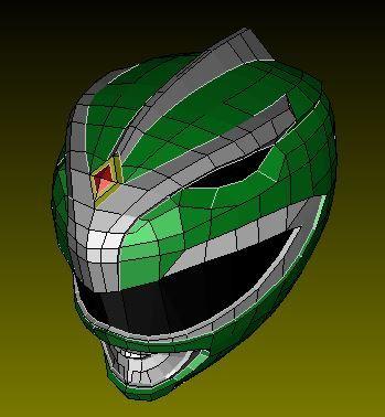 Green Ranger Helmet Paper [Green Ranger Helmet b] - It's Free! : Pepakura Library, The worlds largest repository of Pepakura Files