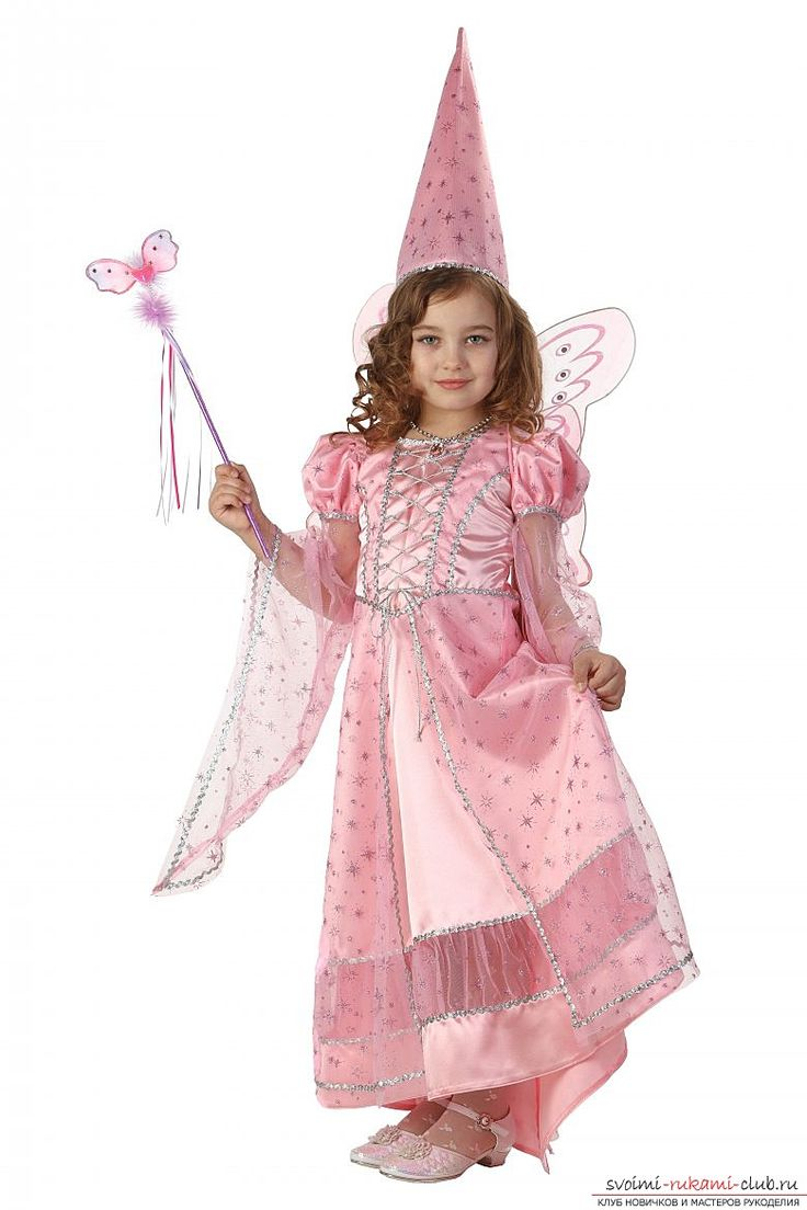 Простые костюмы феи. Костюмы для девочек своими руками в фото-уроках.. Фото №2