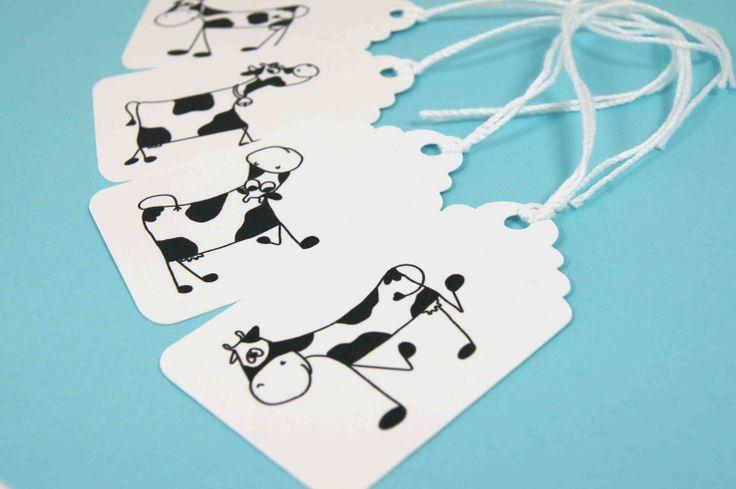 Crazy Cow Hang Tags, useampikin setti kelpaa :) (3,07€/setti)