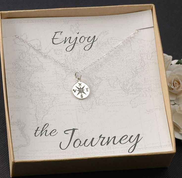 Compass Necklace -Travel - Going away gift - Graduation - New Job -  Silver or Gold Compass Charm (28.00 USD) by DivineJewelrybyMary