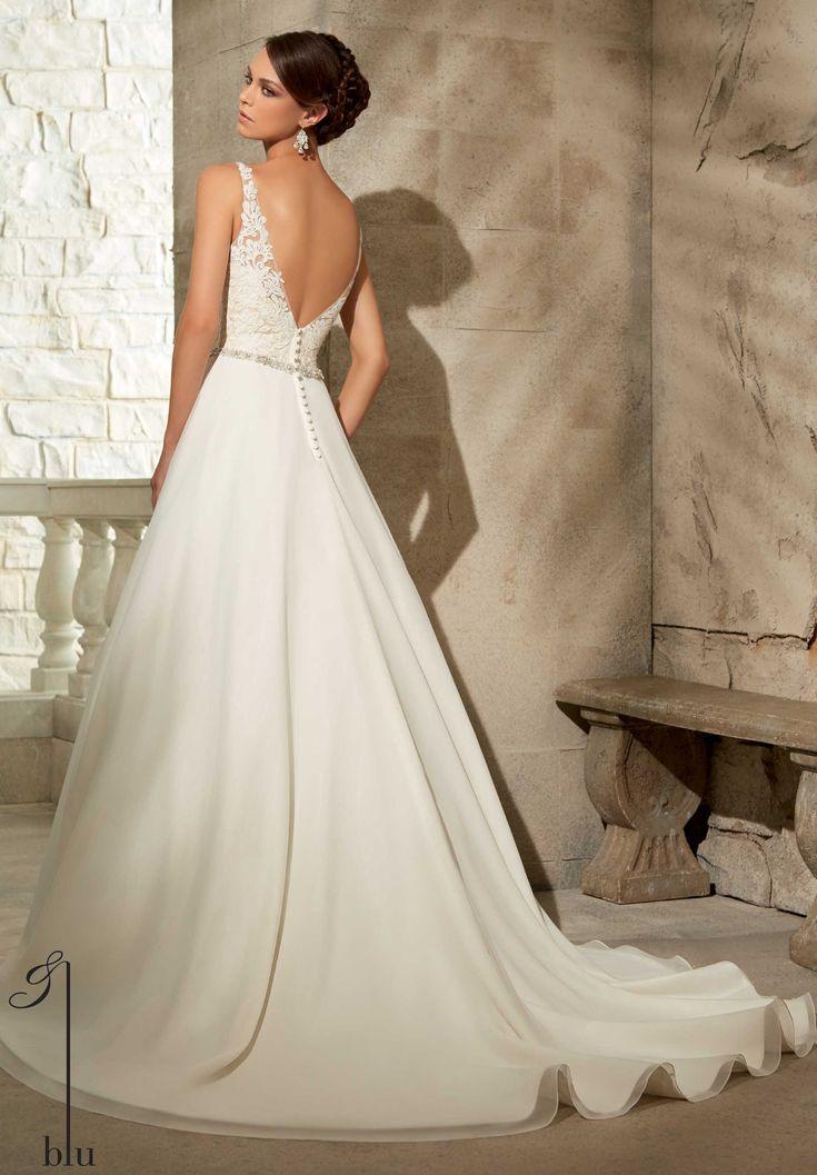 49 best Chiffon wedding gown images on Pinterest | Wedding dressses ...