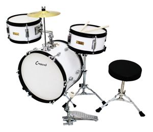 Crescent White 16 Inch Beginner Junior Drum Set is one of the bestselling drum sets on all of Amazon, reviewed at >>> http://kidsdrumset.com/drum-set/crescent-16-inch-beginner-junior-drum-set/