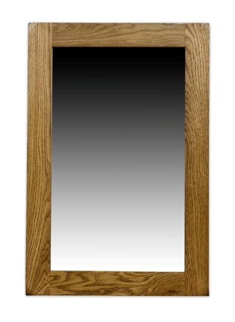 Woodbury Oak Medium Wall mirror - idea for style of mirror and cabinetry over sink