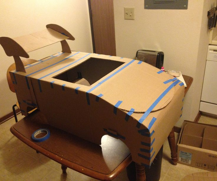 Step-by-step instructions for creating a Mario Kart cardboard frame.