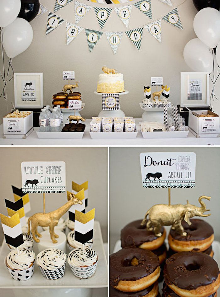 Birthday Party Tribal Dessert Table via Kara's Party Ideas | karaspartyideas.com