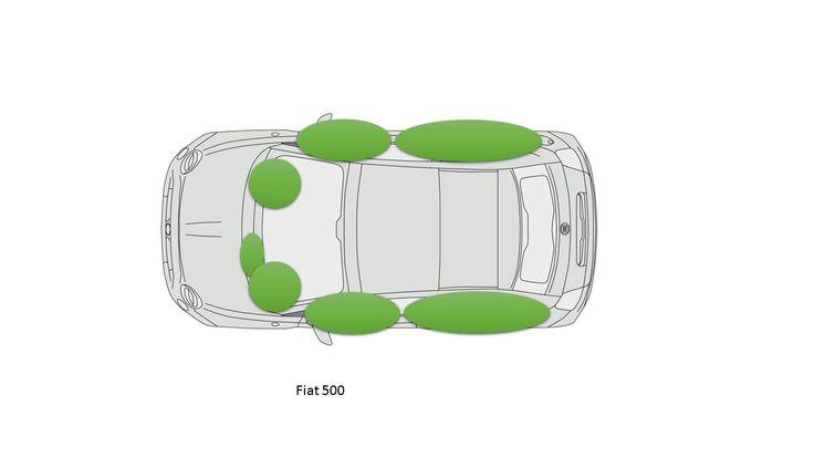 Cette petite voiture dispose de 7 airbags de série.