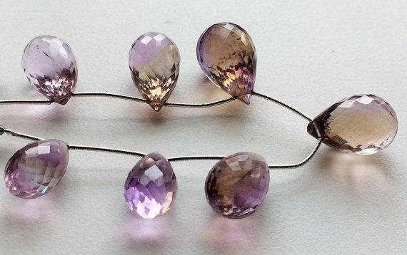 Ametrine Beads Ametrine Micro Faceted Tear Drops by gemsforjewels