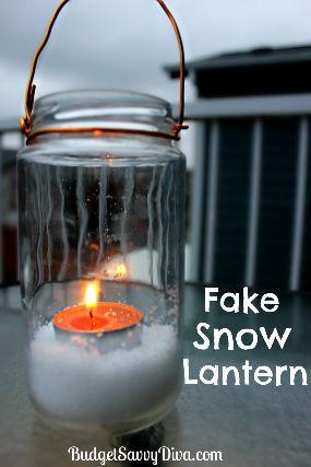 Homemade lanterns with snow & tea lights Screen Shot