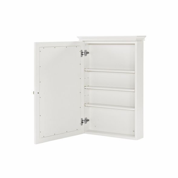 Lydia Mirrored Wall Cabinet In White Target In 2020 Wall Cabinet Mirror Wall Locker Storage