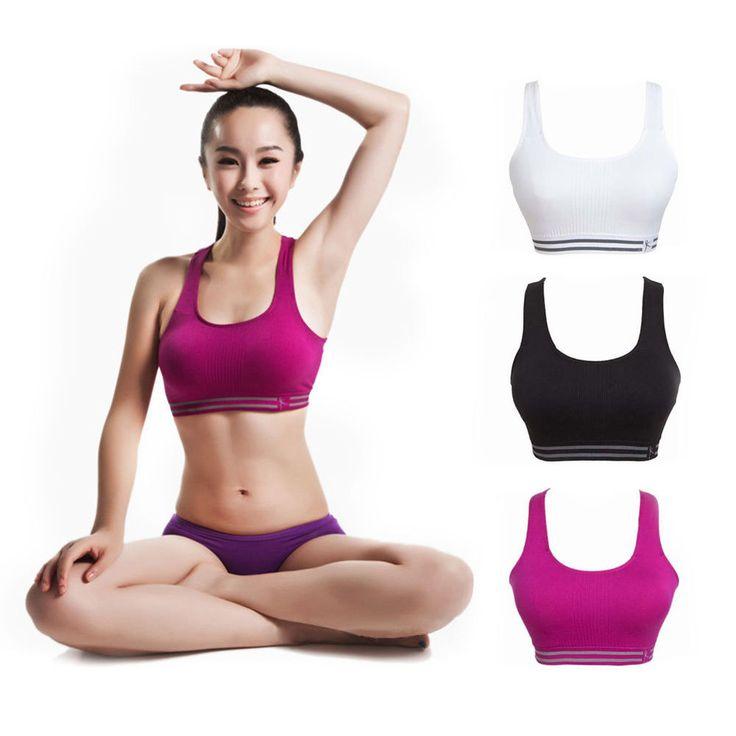 New Sexy Womens Workout Tank Top Stretch Padded Seamless Yoga Sports Bra