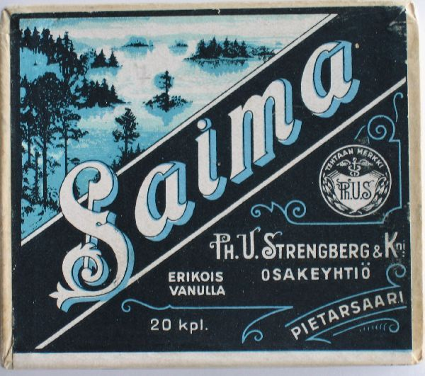 Old Finnish Tobacco, Made in Pietarsaari,