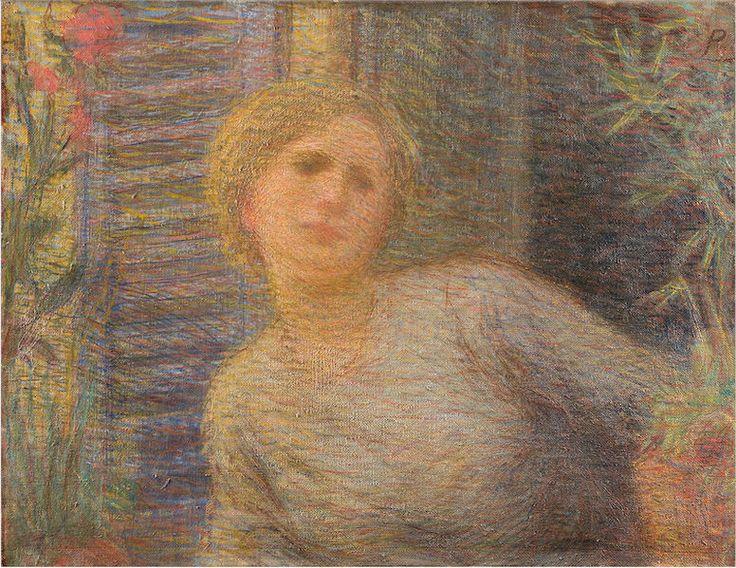 Nomellini, Plinio, (1866-1943), Ragazza alla Finestra, 1893, Oil